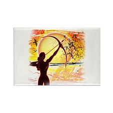 Katniss Radiant as the Sun Rectangle Magnet