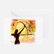 Katniss Radiant as the Sun Greeting Card