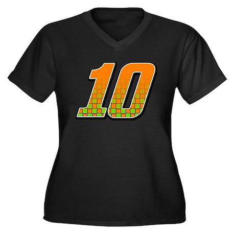 DP10flag Women's Plus Size V-Neck Dark T-Shirt