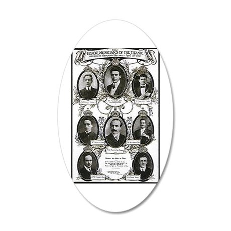 The Courageous Titanic Band 22x14 Oval Wall Peel