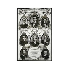 The Courageous Titanic Band Rectangle Magnet (100