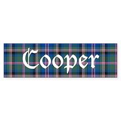Tartan - Cooper Bumper Sticker