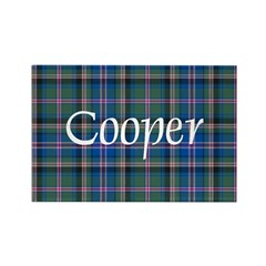 Tartan - Cooper Rectangle Magnet