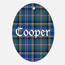 Tartan - Cooper Ornament (Oval)