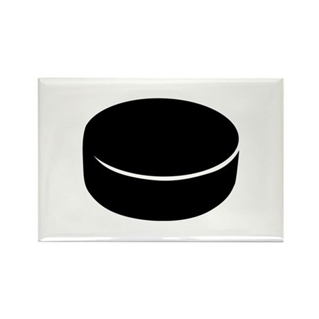Hockey puck Rectangle Magnet (100 pack)