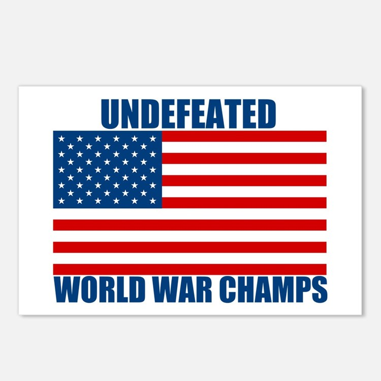 Undefeated World War Champs Postcards (Package of