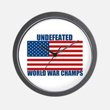 Undefeated World War Champs Wall Clock