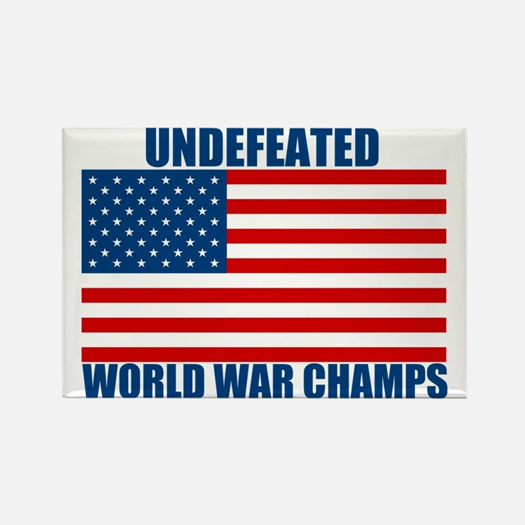 Undefeated World War Champs Rectangle Magnet (100