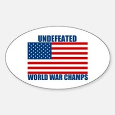 Undefeated World War Champs Sticker (Oval)