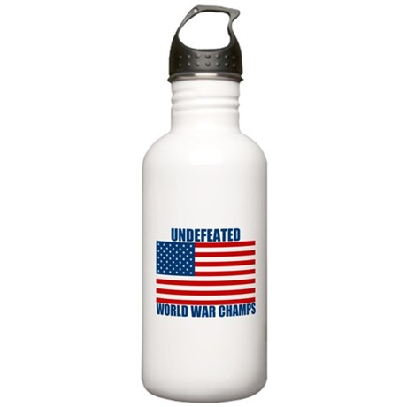 Undefeated World War Champs Stainless Water Bottle