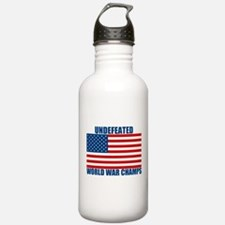 Undefeated World War Champs Water Bottle
