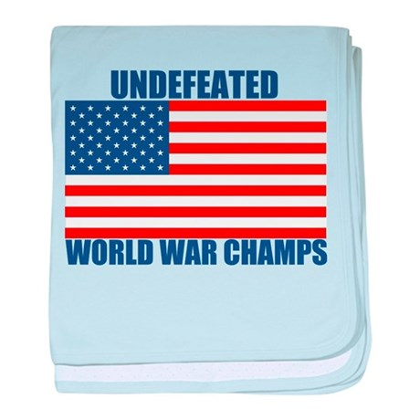 Undefeated World War Champs baby blanket