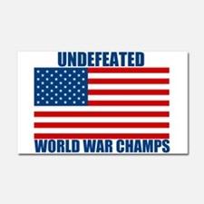 Undefeated World War Champs Car Magnet 20 x 12