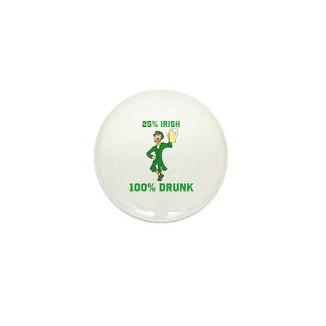 25 percent Irish 100 percent Mini Button (10 pack)