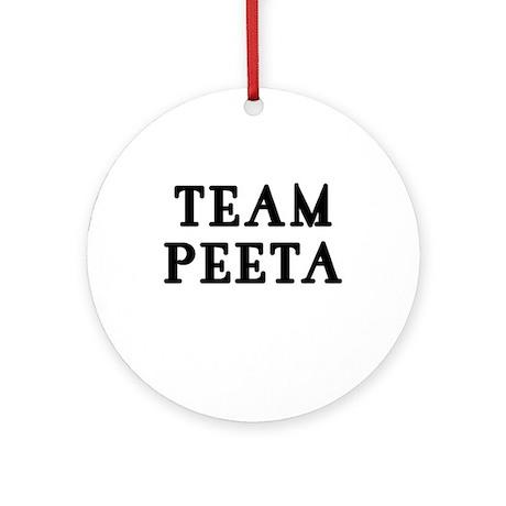 TEAM PEETA Hunger Games Ornament (Round)
