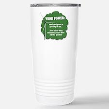 Wind Power Humor Stainless Steel Travel Mug