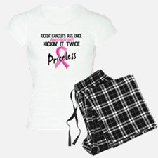 Kicking Ass Twice Breast Cancer Pajamas