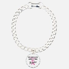 Kicking Ass Twice Breast Cancer Bracelet