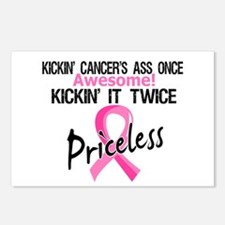 Kicking Ass Twice Breast Cancer Postcards (Package
