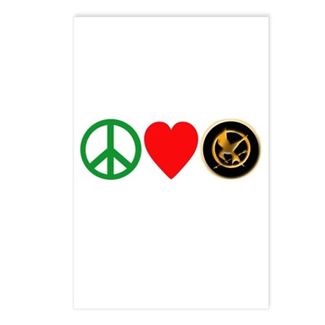 Peace Love HungerGames Postcards (Package of 8)
