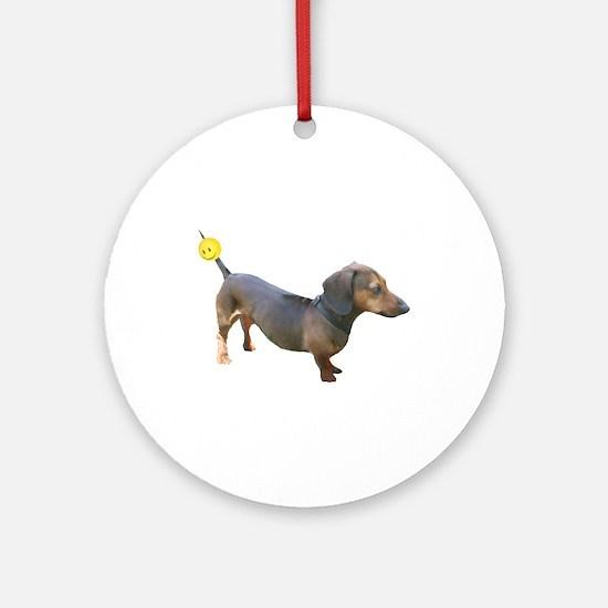 Chewy Antenna Ball Dachshund Ornament (Round)
