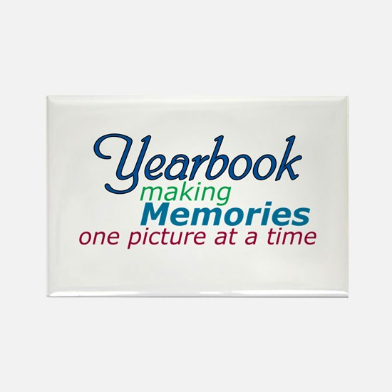 Yearbook Making Memories Rectangle Magnet