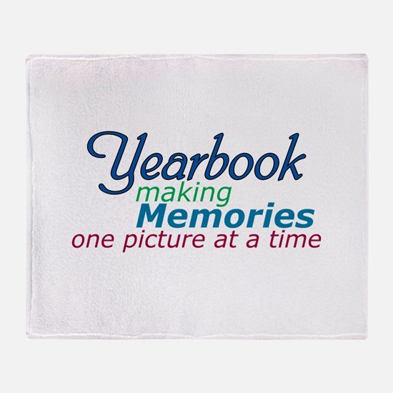 Yearbook Making Memories Throw Blanket