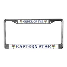 OES License Plate Frame White background