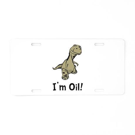 Dino Oil Aluminum License Plate