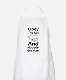 Obey the cat no one gets hurt Apron