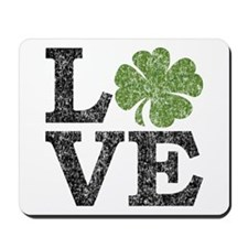 LOVE with a shamrock Mousepad