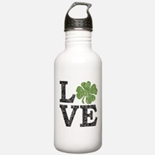 LOVE with a shamrock Water Bottle
