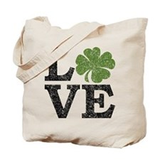 LOVE with a shamrock Tote Bag