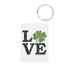 LOVE with a shamrock Keychains