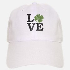 LOVE with a shamrock Baseball Baseball Cap