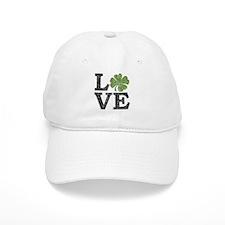 LOVE with a shamrock Baseball Cap