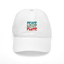 Peace Love Flute Baseball Cap