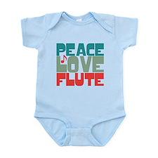 Peace Love Flute Infant Bodysuit