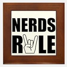 Nerds Rule Framed Tile