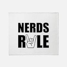 Nerds Rule Throw Blanket