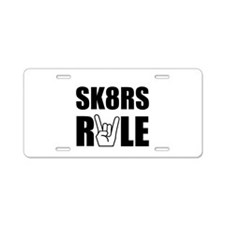 SK8RS Aluminum License Plate