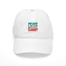 Peace Love Clarinet Baseball Cap