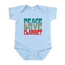 Peace Love Clarinet Infant Bodysuit