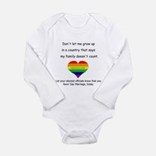 Cute Elected officials Long Sleeve Infant Bodysuit