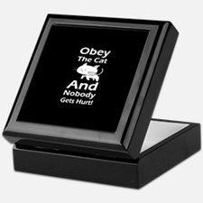Obey the cat no one gets hurt Keepsake Box