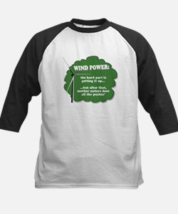 Wind Power Humor Kids Baseball Jersey