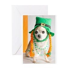 St. Patrick's Day Dog Greeting Card