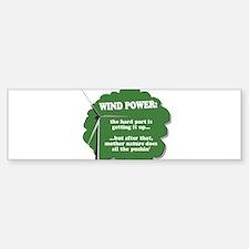 Wind Power Humor Bumper Bumper Bumper Sticker