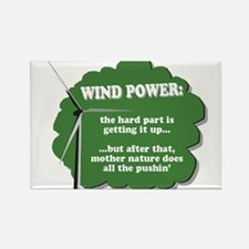 Wind Power Humor Rectangle Magnet