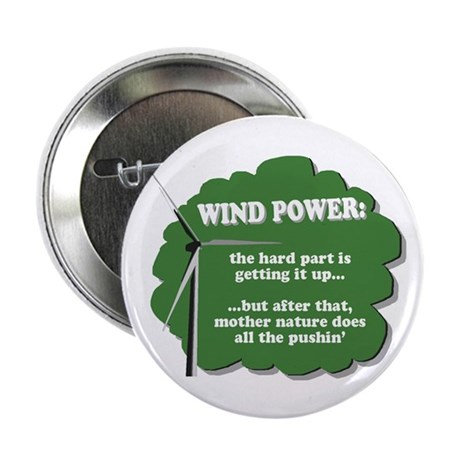 "Wind Power Humor 2.25"" Button"